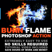 Burn flame photoshop action 19129849 icon