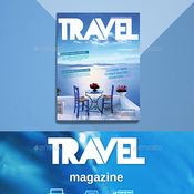 Travel magazine plantilla indd icon
