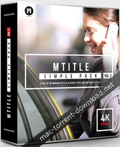Motionvfx mtitle simple pack vol 2 for fcpx and motion 5 icon