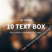Lenofx 10 text box for fcpx icon