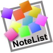 Notelist save notes in multiple formats icon