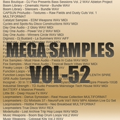 Mega samples vol 52 logo icon