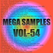 Mega samples vol 54 logo icon
