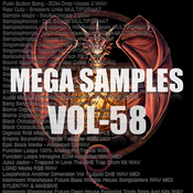 Mega samples vol58 logo icon