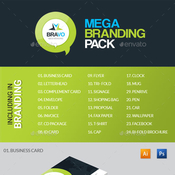 Bravo business mega branding pack 12423230 icon