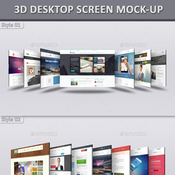 3d desktop screen mock ups 12521745 icon