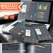 Infographic elements design on dark background 12758326 icon