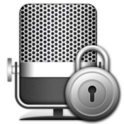 Microphone lock icon