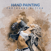 Hand painting photoshop action by psdsquare 17128579 icon