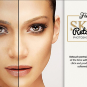 Fine skin retouch photoshop action 433133 icon