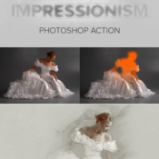 Impressionism photoshop action 19168679 icon