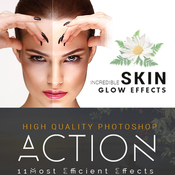 Incredible skin glow acciones photoshop icon