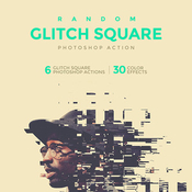 Random glitch square acciones photoshop icon