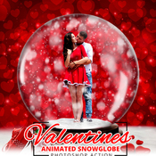 Gif valentine animated snow globe action acciones photoshop icon