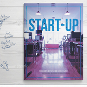 Start up business brochure plantilla indd icon
