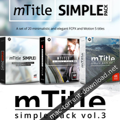 Motionvfx mtitle simple pack bundle for fcpx and motion 5 icon