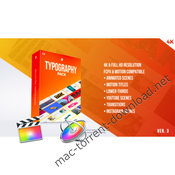 Typography pack pro fcpx and apple motion icon