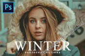 50 winter photoshop actions bundle icon