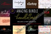 Amazing bundle handlettered icon