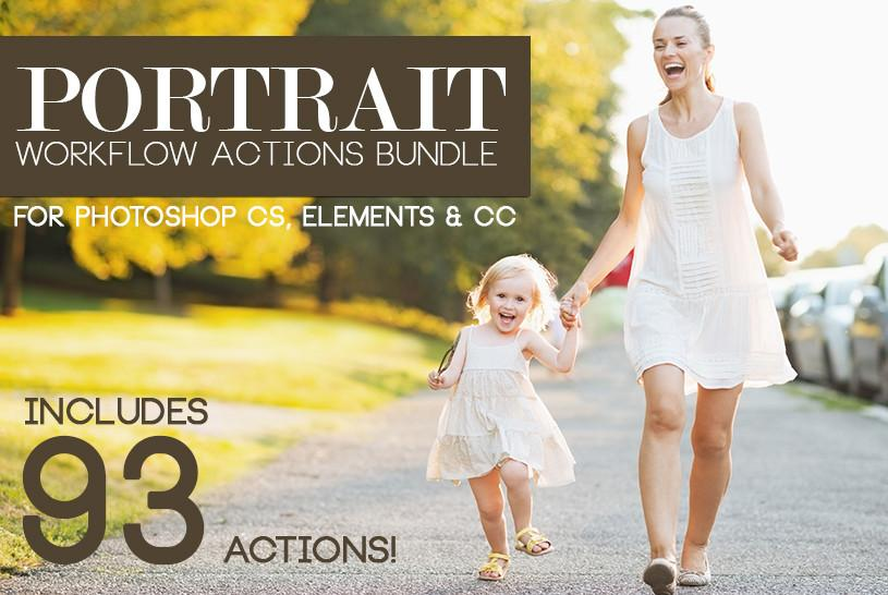 Photographer Resources PORTRAIT WORKFLOW 93 PHOTOSHOP ACTIONS BUNDLE Screenshot 01