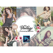 100 vintage photoshop actions icon