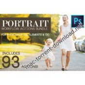 Portrait workflow 93 photoshop actions bundle icon