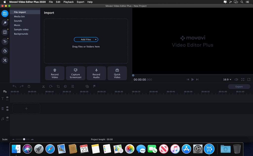 Movavi Video Editor Plus 2020 v2000 Screenshot 01 134ng3n
