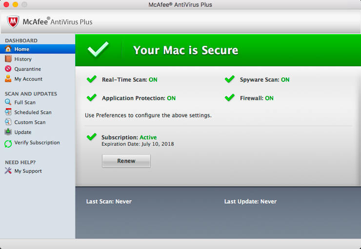 McAfee Endpoint Security for Mac 1066 Screenshot 01 57tm51n
