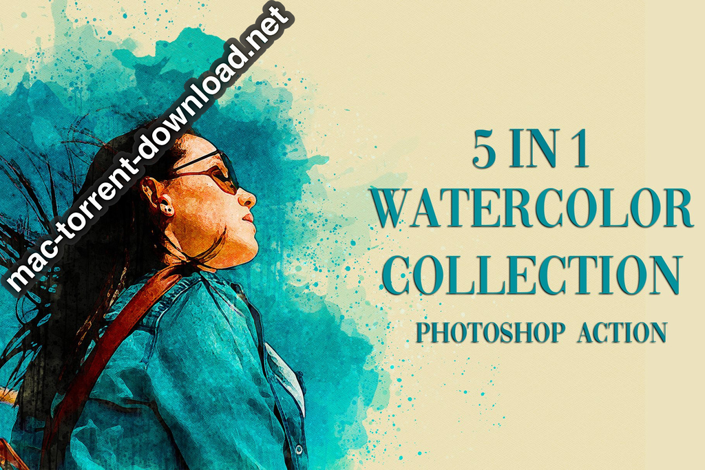 5 in 1 Watercolor Collection Bundle Photoshop Action Screenshot 01 xnj6bn