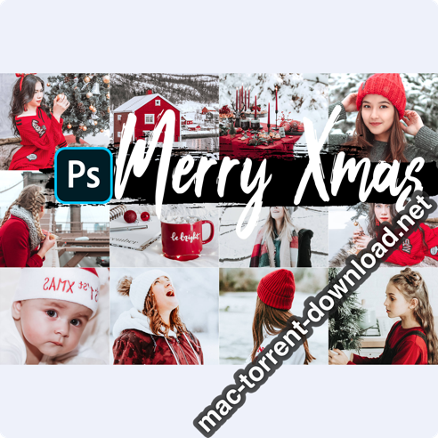 05 Merry Xmas Photoshop Actions ACR and LUT presets icon