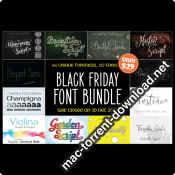 BLACK FRIDAY 117 FONT BUNDLE 4349081 icon